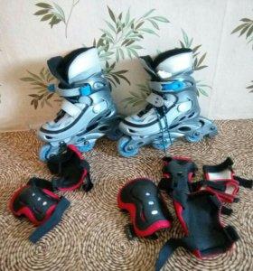 Роликовые коньки с защитой