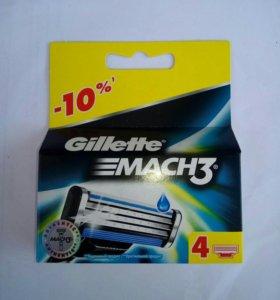 Сменные кассеты MACH3 4 шт. Оригинал!!!