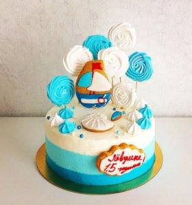 Торт в морском стиле.