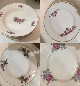 Набор тарелок Дулево новый 6 шт и yamatsu Japan