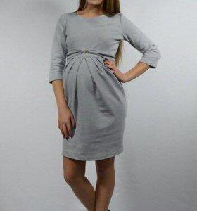 Платье для беременной из плотного трикотажа