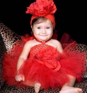 Красное Платье нарядное. Платье для фотосессии .