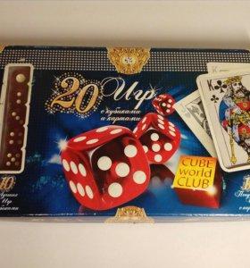 Настольная игра «20 игр с кубиками и картами»