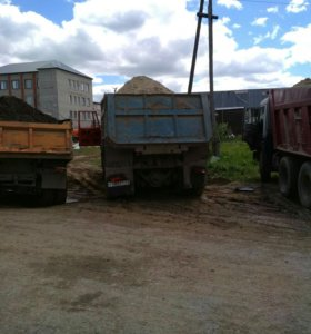 Продажа песка грунта щебня чернозема глины
