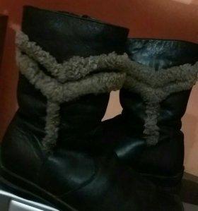 Ботинки зима 34.натуральные