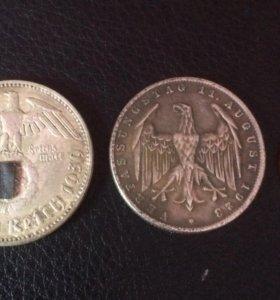 Монеты 3 рейх Германия