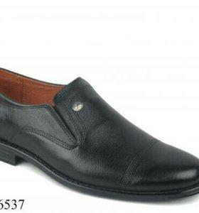 Туфли муж кожа 41р-р узкая нога