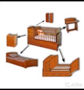 Детская кроватка- трансформер