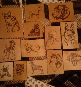 Рисунки пирографом (выжигание по дереву)