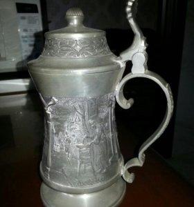 Пивная кружка из олова