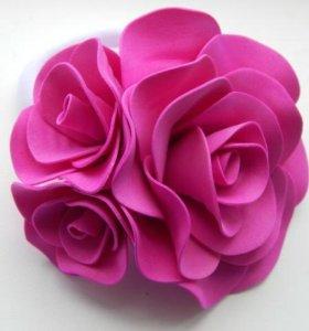 "Резинка для волос ""Роза"""