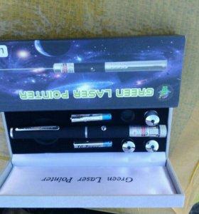 Лазерная указка(светомузыка) с 4 насадками