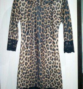 Платье леопардовое D&G