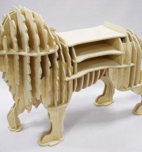 Лев столик-полка
