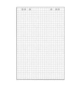 Блок бумаги для флипчартов клетка 67,5х98 10 лист