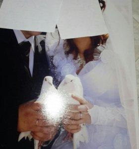 Свадебное платье с аксессуарами!!!