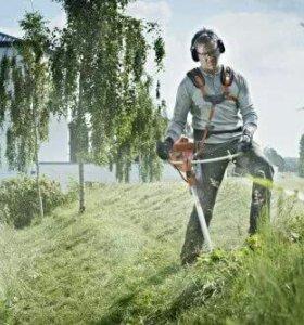 Покос травы.Опил деревьев. Уборка дачного участка.