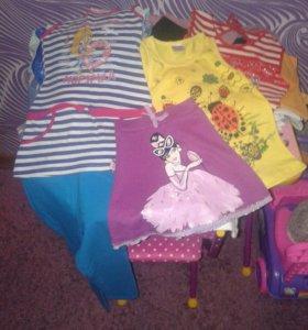 Пакет вещей для девочки 3-5 лет