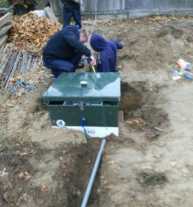 Монтаж автономной канализации и септиков .