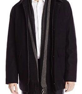 Calvin Klein, новое шерстяное пальто с шарфом M,XL