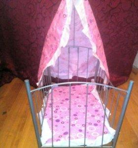 Кроватка-качалка для кукол