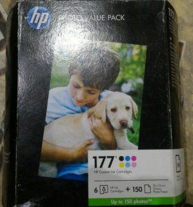 Набор HP Q7967HE 6шт. 177 + фотобумага