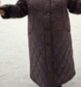 Пуховик и шерстяное пальто 58-60
