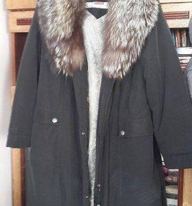 Продам пальто с чернобуркой