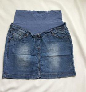 Джинсовая юбка для беременной Gemko