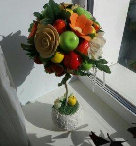 Топиарий цветочно- фруктовый