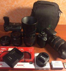 Canon 650D + 4 объектива + аксессуары