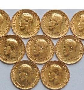 Золотые червонцы Николая 2