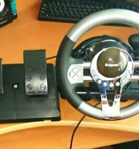 Игровой руль Defender Forsage GTR USB, 12 кнопок,