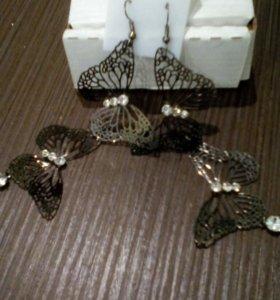 Серьги-бабочки)