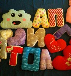 Именные буквы подушки