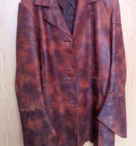 Кожанный пиджак