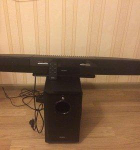 Колонки sven SB-550 Black (саундбар 2x75W+ Wireles