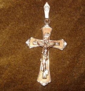 Крест золотой православный.