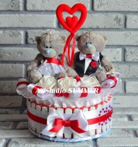 Свадебный торт из конфет