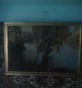 """,,Утро в лесу""""картина маслом на холсте"""
