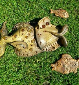 Настенное панно《Рыбы》