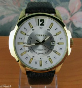 Кварцевые часы Curren с календарём, мужские, белые