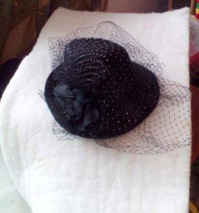 Модная шляпка с вуалью