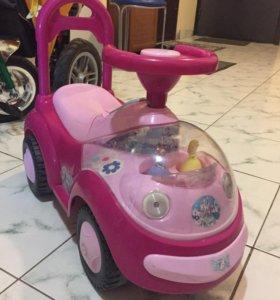 Детская каталка машинка для девочек