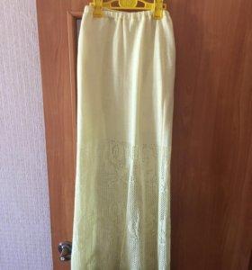 Летняя вязаная юбка