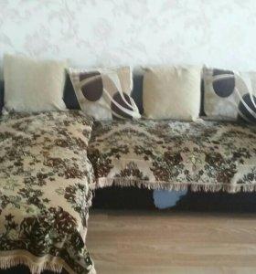 Угловой диван и кресла
