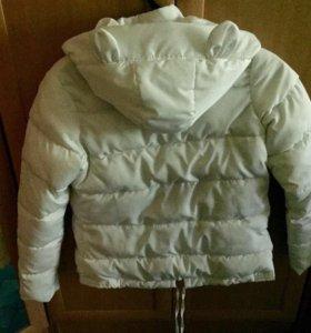 Курточка белая с ушками