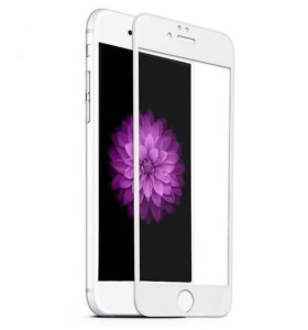 Защитные стекла на iPhone 6 Plus белого цвета