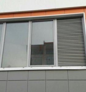 Окно Рехау балконное 4 створч