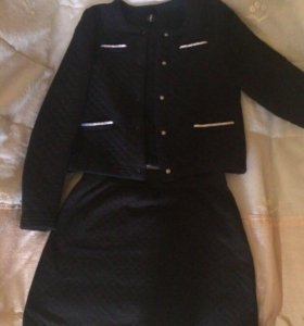 Жакет и юбка в стиле Chanel